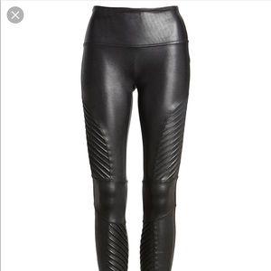 Spanx faux leather motto leggings
